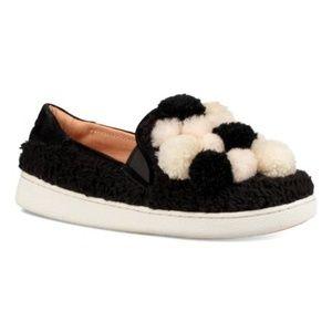 UGG Ricci Pom Pom Sneakers - Black
